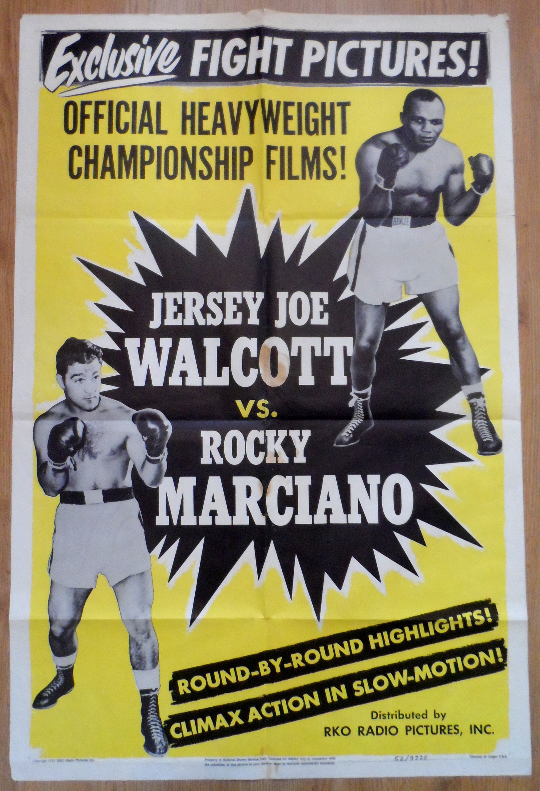 1952_Rocky_Marciano_v_Jersey_Joe_Walcott_fight_film_poster on Gym Page Border