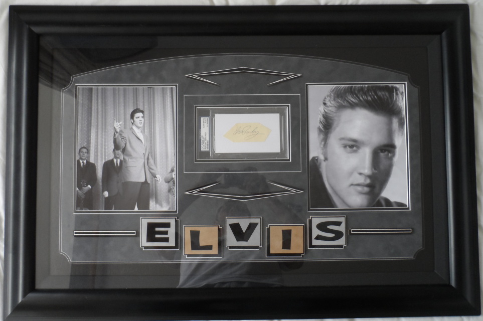 Elvis Presley Framed Autograph Display Psa